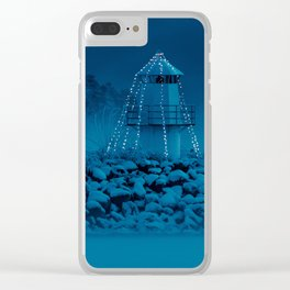 Pier and lighthouse Clear iPhone Case