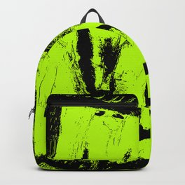 Abstract Green digital art Backpack