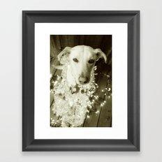 It's Beginning to Look a Lot Like Christmas B&W Framed Art Print