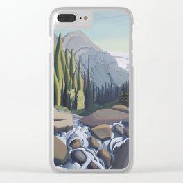 Dazzling Descent - mountain river Clear iPhone Case