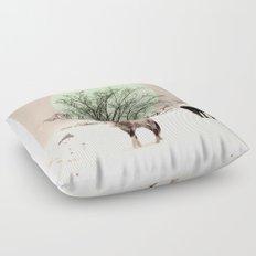 Winter horses Floor Pillow