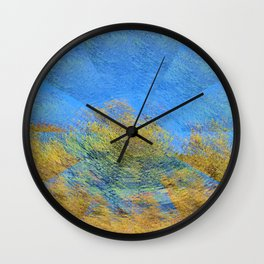 Gazing on the earth Wall Clock