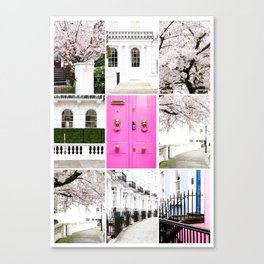 Spring in London Collection - Story Board Collage - 9 images styled together Canvas Print