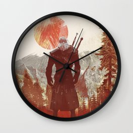 The Witcher Geralt variation print Wall Clock