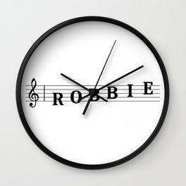 Name Robbie Wall Clock