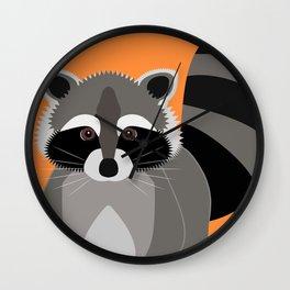 Raccoon Mischief Wall Clock