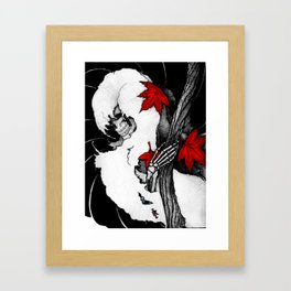 Death in Fall Framed Art Print