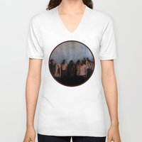 zombies V-neck T-shirts featuring ZOMBIES V by Zombie Rust