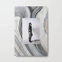 Marble Girl Metal Print