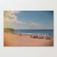 spanish Canvas Prints featuring Spanish Sunbathers by ZBOY