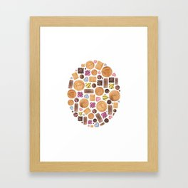 Sweets and Candy. Framed Art Print