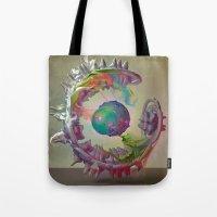 archan nair Tote Bags featuring Korah by Archan Nair