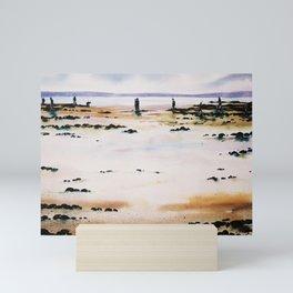 clamming in Nova Scotia - pêcheurs de coques Mini Art Print