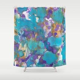 Blue Blossom Shower Curtain