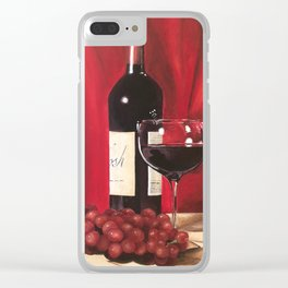 Red Wine, Still Life Clear iPhone Case
