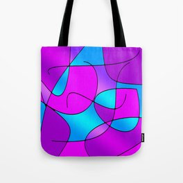 ABSTRACT CURVES #1 (Purples, Violets, Fuchsias & Turquoises) Tote Bag