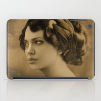 angelina jolie iPad Cases featuring Angelina Jolie Vintage ReplaceFace by Maioriz Home