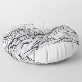 Ne Pali Coast Floor Pillow