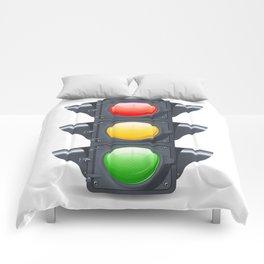 Traffic Lights Realistic Comforters