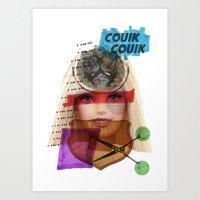 barbie Art Prints featuring Barbie by benjamin chaubard