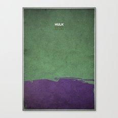 Hulk - minimal poster Canvas Print