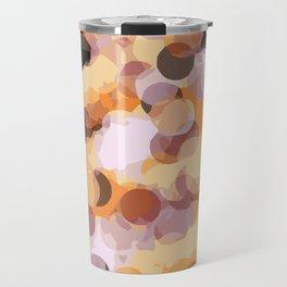 orange brown and black circle abstract background Travel Mug