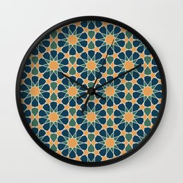 islamic geometric pattern Wall Clock