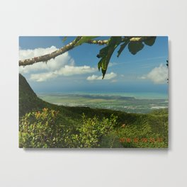 View of the Puerto Rico East Coast - from El Yunque rainforest Metal Print