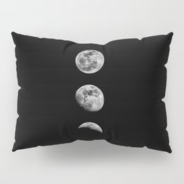 Phases of the Moon print black-white monochrome new lunar eclipse poster home bedroom wall decor Pillow Sham