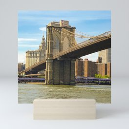 Brooklyn Bridge on a Sunny Day Mini Art Print