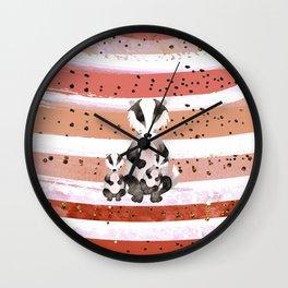 Tones Of Peach Bea Badger - Bagaceous Wall Clock