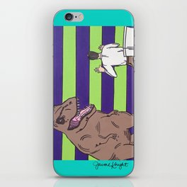 """Jurassic Park """"Died on the Shitter"""" iPhone Skin"""