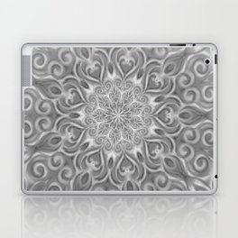 Gray Center Swirl Mandala Laptop & iPad Skin