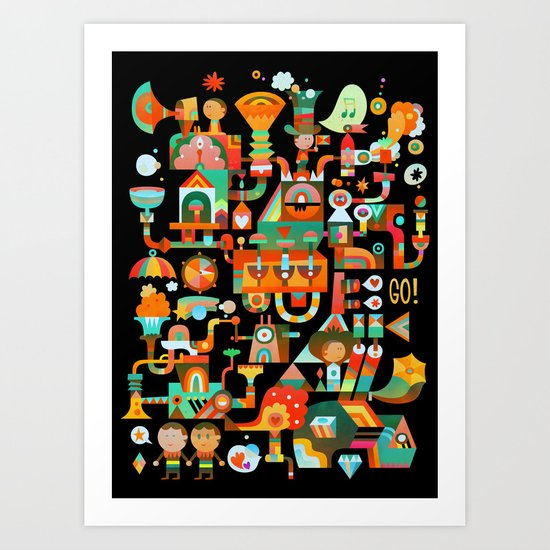 The Chipper Widget (Remix) Art Print