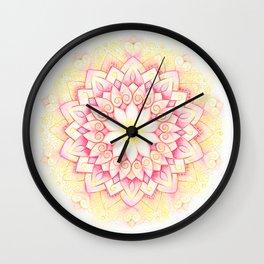 Eternal Love Mandala Wall Clock