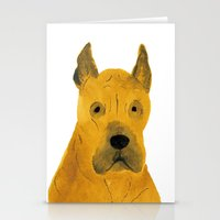 great dane Stationery Cards featuring Great Dane by ITSUKO SUZUKI