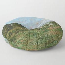 Claude Monet - Coastal landscape Floor Pillow