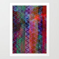 Acid Chevron Art Print