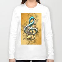 decorative Long Sleeve T-shirts featuring Decorative clef  by nicky2342