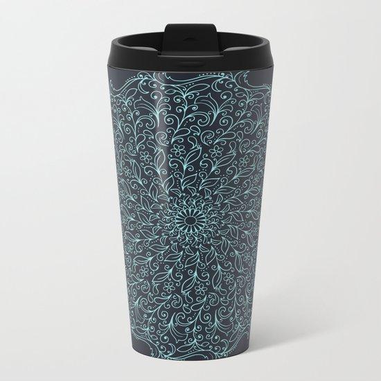 Floral Mandala Metal Travel Mug