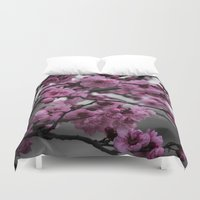 cherry blossom Duvet Covers featuring Cherry Blossom by Michelle McConnell