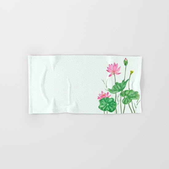 lotus flower  Hand & Bath Towel