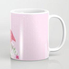 Elegant pink tropical flamingo flowers love typo Coffee Mug