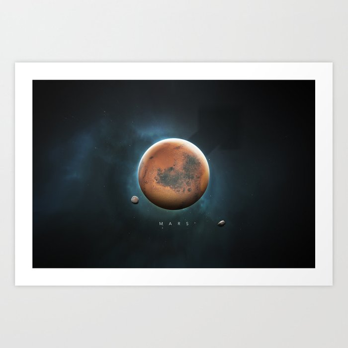 A Portrait of the Solar System: Mars Art Print