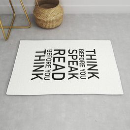 Fran Lebowitz — Think before you speak. Read before you think. Rug