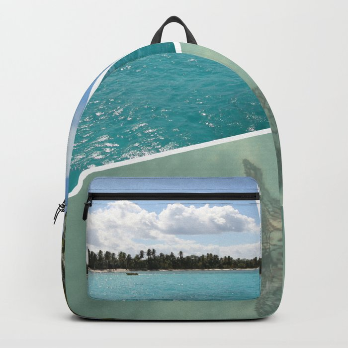 Caribbean Photo Collage - Isla Saona Backpack
