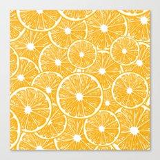 Orange slices pattern design Canvas Print