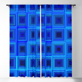 6x6 005 - abstract neon blue pattern Blackout Curtain