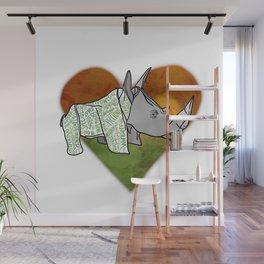 Rhino Love Wall Mural