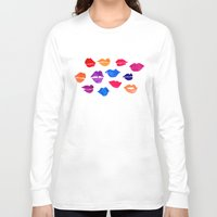 lip Long Sleeve T-shirts featuring Lip Service by Samantha Jayne